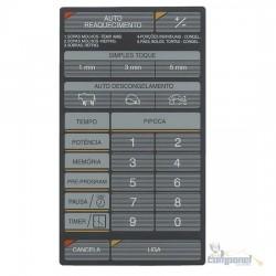 Membrana Teclado Microondas Brastemp / Samsung  Bmp28e / MW5700 Cinza